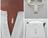 Gold Bar Necklace, Bar Necklace, Gold Name Bar Necklace, Name Necklace, 14k Gold Filled Bar Necklace