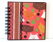 Cat Themed 6x6 Premade Mini Scrapbook Album