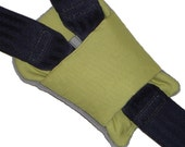 Baby Lime Green Buckle Pad - Pram - Carseat - Cart - Harness Pad (Fully Padded)