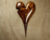 Best of etsy brown romantic heart wood carving anniversary gift