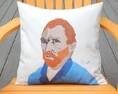 "Outdoor pillow VINCENT VAN GOGH 20"" (50cm) Post-Impressionist artist Dutch painter Crabby Chris Original"