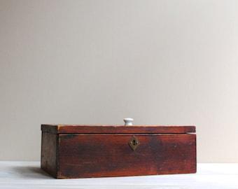 Vintage Wood Box / Treasure Box / Keepsake Wooden Box