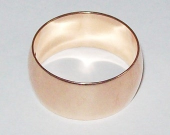 Russian 14k Gold Wedding Ring Wide Band Size 9 Soviet 585
