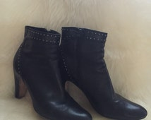 Cole Haan Black Ankle Boots Women's Size 8B