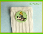 Disney Goofy inspired custom made socks for boys, newborn to men's sizes available, you pick sock type, matching shirt also available
