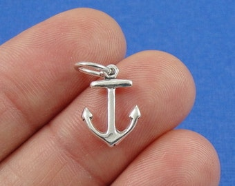Anchor Charm - Sterling Silver Nautical Anchor Charm for Necklace or Bracelet