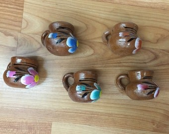 50 Mini Party Favor Mexican Pottery Mug Tequila Shot Glass #1