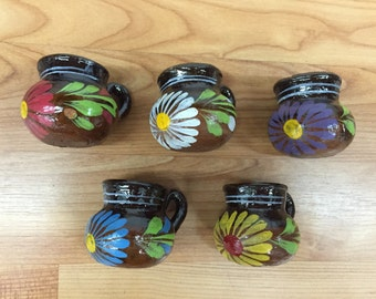 50 Mini Party Favor Mexican Pottery Mug Tequila Shot Glass #3