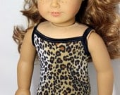 "Lounging Leopard Swimsuit for 18"" Dolls Such as American Girl"