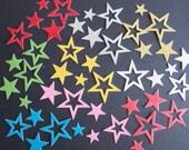 Die Cut Glittered Stars Party, Scrapbooking, Cardmaking