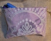 Purple Lace Tie Dye Drawstring Pouch - Small Size