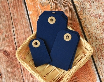 NAVY BLUE Reinforced Luggage Tag
