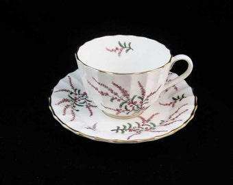 Royal Worcester DUNROBIN Tea Cup & Saucer pattern #Z1918