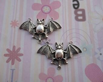 10pcs antique silver bat findings 47x27mm