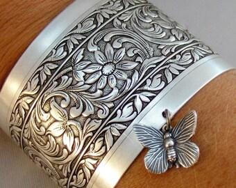 Butterfly Slave Bracelet,Slave Bracelet,Butterfly,Butterfly Bracelet,Silver Bracelet,Cuff,Boho,Hand Bracelet,Harem Bracelet,Hipster,valleygi