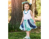 Swirly Skirt sewing pattern - sizes 6m-9/10 plus doll - Pageant Talent Costume