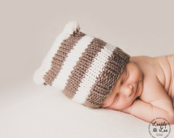 Newborn Knit Sack Hat, Newborn Photo Prop, Baby Boy, Baby Girl, Newborn Knit - SIZE NEWBORN - more color options