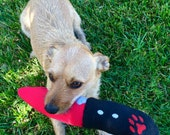Dog Squeaker Toy Boody Plush Knife - Knife Plushie with Bloody Blade for Dogs - Dog Squeaking Toy - Halloween Dog Toy for Small Pets