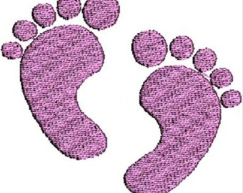 Machine Embroidery Baby Feet Embroidery Design for Embroidery Machine  3 Sizes