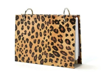 3 x 5 or 4 x 6 index card binder in a leopard print, animal print for your journal