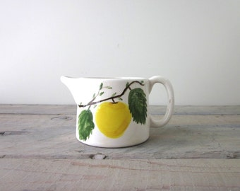 Hand Painted Green Apple Creamer