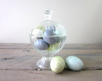 Mid Century Modern Glass Canister Apothecary Jar Candy Jar
