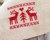 Nordic Deer Cross Stitch Pattern PDF
