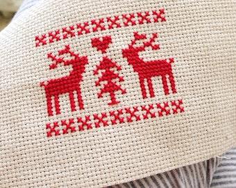 Nordic Deer Cross Stitch Pattern PDF