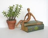 Vintage articulated artists mannequin. Wooden, natural, high quality.