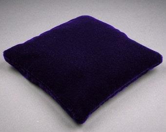 4.5 Inch Medium Size Dark Purple Velvet Crystal Pillow Sphere Stand, CPV2M