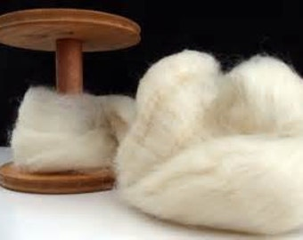 Wensleydale Combed Wool Top Excellent Spinning and Dyeing Fiber 4 oz