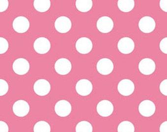 50% off*** Riley Blake Medium Polka Dot - C360-70 HOTPINK Medium Dots