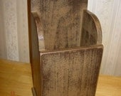 Handmade Primitive Wall Box - Shaker Inspired - Kitchen Utensil Holder