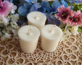 3 Gardenia Candles, Goddess Candles, Soy Votive