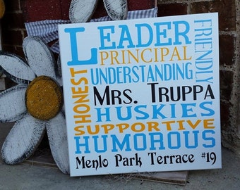 Personalized Principal/Teacher/Counselor Gift