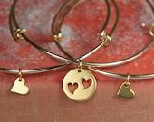 Mother of Two, Bangle Bracelet Set, Gold Bracelets, Mother Daughter Bracelets,Adjustable Bangle