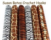 Susan Bates Polymer Clay Covered Crochet Hook, Animal Print, Safari, Jungle Design