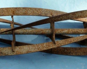 Antique Mower Blade Great For Steam Punk Art Or Antique Display (50 % DISCOUNT APPLIED)