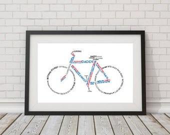 Custom Bicycle Word Art