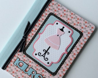 PERSONALIZED Composition Book - Favorite Pink Dress