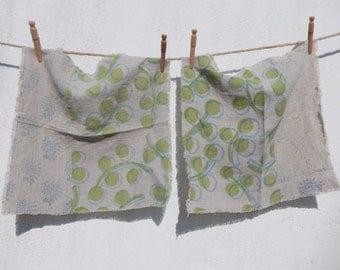 Linen Napkins, Hand Printed