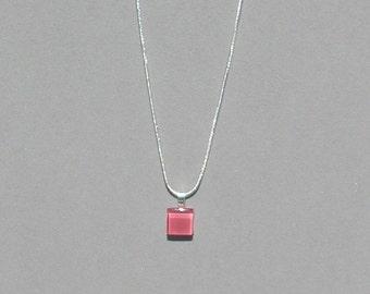 Watermelon Glass Tile Necklace
