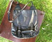 Vintage distressed leather Ann Demeulemeester shoulder bag