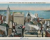 South View Lower New York New York City 1930s postcard