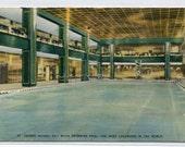 Swimming Pool Hotel St George New York City 1954 postcard