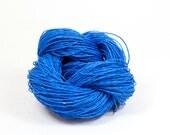 Paper Yarn - Paper Twine: Blue - 131 yards (120m) - Knit, crochet, textile arts, DIY supply
