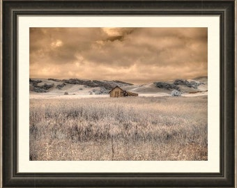 Barn photo, weathered barn photography, rustic home decor, infrared photography, fine art photography, feng shui, old barn, home decor