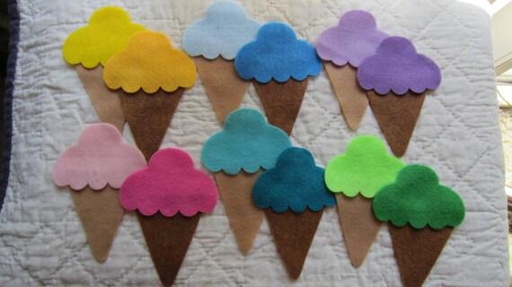 Felt Ice Cream Cone Kit DIY Kids Crafts Party