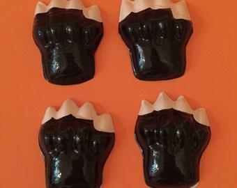 Set of 4 Cat Paws