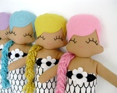 Miranda Mermaid Cloth Rag Doll - MADE TO ORDER